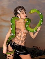 Green Serpent by Ikke46