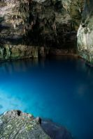 blue cenote by ponchomorales