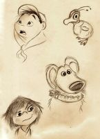 Up Sketches by Mitch-el