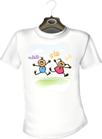 T-shirt 05- Hi hah hee by marh333