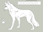 Free Male Wolf Lineart by AeroSocks