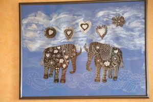 silver valentine elephants in love by ingeline-art