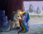 Apple and Rainbow in a Barn by johnjoseco