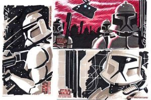 clone Wars sketch cards 5 by sobad-jee