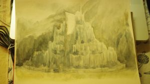 Minas Tirith quick sketch by daydreamerre