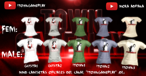 MMD camisetas oficiales itowngameplay :DL: by mokathekiller