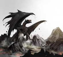 Ancalagon the black by Aosk26