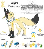 Sahara the Fennecmon ref by min-mew