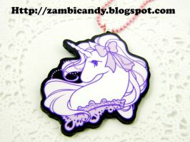 Princess unicorn necklace by zambicandy