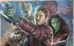 Guardian of the Galaxy pastel drawing byFawnCorner by FawnCorner
