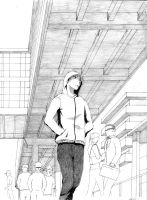 Manga perspective sketch by Drawer888