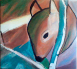 A Single Deer in the Woods by Eirianna