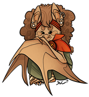 The most adorablest teeny tiny bat ever by bPAVLICA