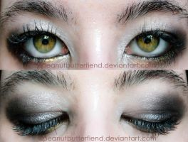Silver gold smokey eye by Apeanutbutterfiend