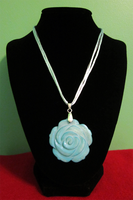 Blue Rose Choker by BloodRed-Orchid