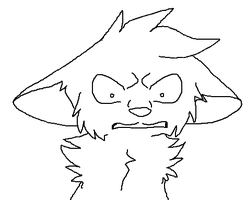 Angry / shocked cat lineart by SparxTehRaichu