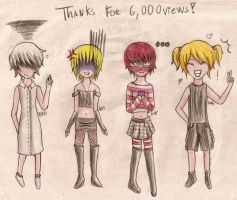 Thanks for 6,000 views by ToysAndChocolate