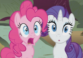 Pinkie Pie and Rarity stunned gif by exe2001