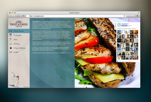 SweetGreen website by red-maupa