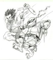 raph and casey sketch by mastaczajnik