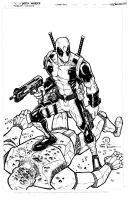Dead Pool inked by JoeyVazquez