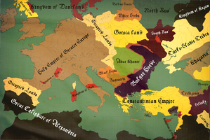 Holy Empire of Greater Europe 1120 Countries by zalezsky
