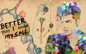 Watercolor Adam Lambert by aHazardousDesign
