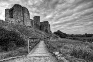 Kidwelly in Mono by CharmingPhotography