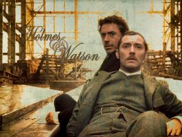 Holmes and Watson by LinkxMidna4eva