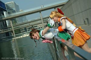 Sailor Jupiter and Venus - Ready to save the day by Bunnymoon-Cosplay