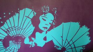 Geisha Girl on Canvas by I-rather-be-dreaming
