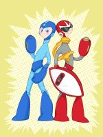 Megaman and Protoman by spicysteweddemon