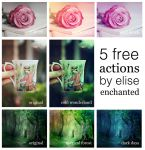 5 free photoshop actions by EliseEnchanted