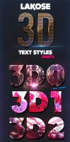Lakose 3D Text Styles Part 4 by Xemrind