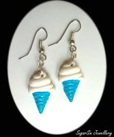 Blue Icecream Earrings by SugarsinJewellery
