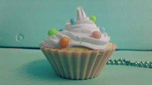 Cupcake Charm ~ Polymer Clay by BejeweledLovePotion