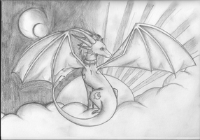 dragon day night cloudy thingy by Cirothe