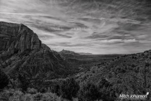 Looking Towards Zions BW by mjohanson