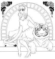 Tiger - Lineart by RoroZoro