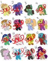 Adoptable Batch Six [50 Points Each!] by quila111