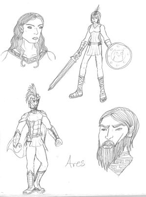 Athena and Ares