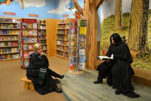 Severus reads to Draco by stormymarie