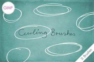 GIMP Curling Brushes by byjanam
