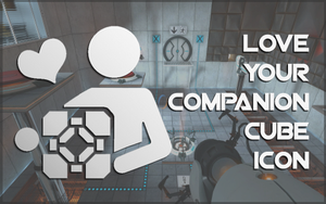 Love Your Companion Cube Icon by kortos117