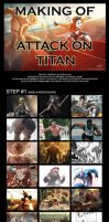Making of ATTACK ON TITAN selfportrait by CharlyChive