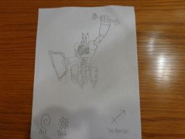 Video game OC Flying Sagittarius Robot by RealSF