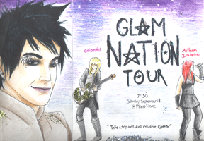 Glam Nation Tour Poster by evillittlecherry