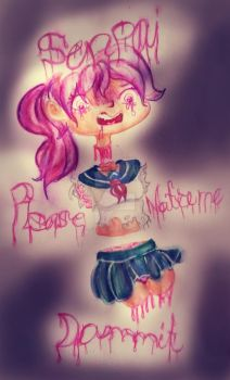 SENPAI ! Your'e Tearing her apart ! by ShyLittleLily