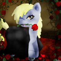 Derpy's rose by telimbo