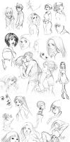 End of Month Sketchdump 1 by palnk